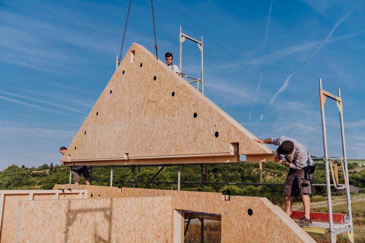 Holzelementbau für 100 Bauprojekte/a