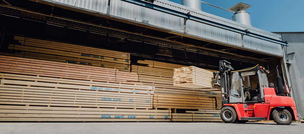 Technische Trocknung von 15.000 Kubikmeter/a Schnittholz